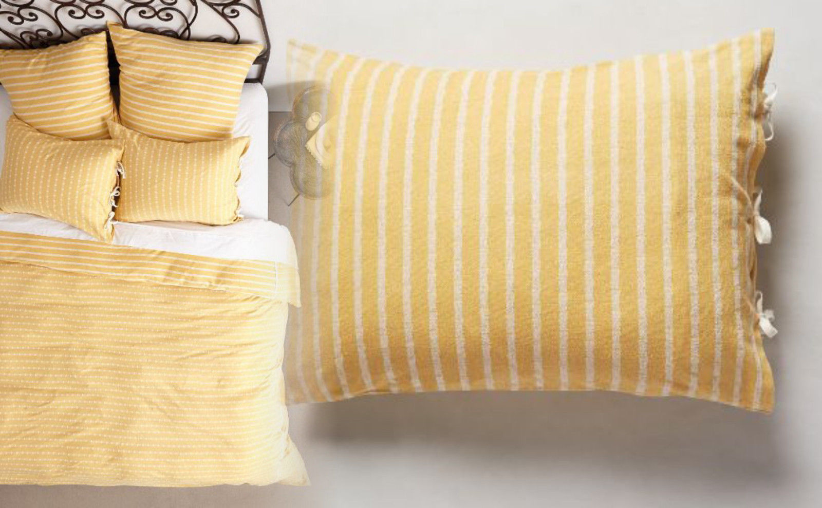 Hotel Collection Gilded Geo EURO Embroidered Pillow shams Ivory NIP
