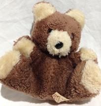 vtg Russ Berrie Teddy Bear mini Plush #245 Stuffed Animal Toy ground nut filled - $11.02