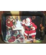 Coca-Cola Santa Claus Large Metal Tray Christmas Holiday 2001 - $12.82 CAD