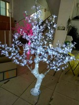 5 ft LED Christmas New year Light Crystal Cherry Blossom Tree with White Leafs - $359.00