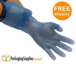 Blue Vinyl Disposable Gloves Powder Free 4.5 Mil Size: Small 5 Box = 500... - $18.90