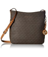 NWT MICHAEL KORS Jet Set Travel Crossbody Canvas Messenger Brown 35F8GTVM7B - $108.90