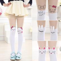 Cute Cartoon Designs Girls Tights Lovely Hello Kitty Velvet Stockings fo... - $8.60