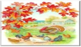 Turkeys in Autumn Refrigerator Magnet - $1.99+