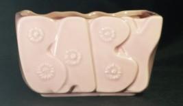 """Vintage Pink Floraline-McCoy """"BABY"""" Planter - $11.88"""