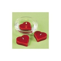 Red Heart Shaped Floating Candles Pack of 12 Wedding Centerpiece Decorat... - ₨972.42 INR
