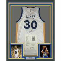 FRAMED Autographed/Signed STEPHEN CURRY Golden State White Jersey JSA CO... - €623,71 EUR