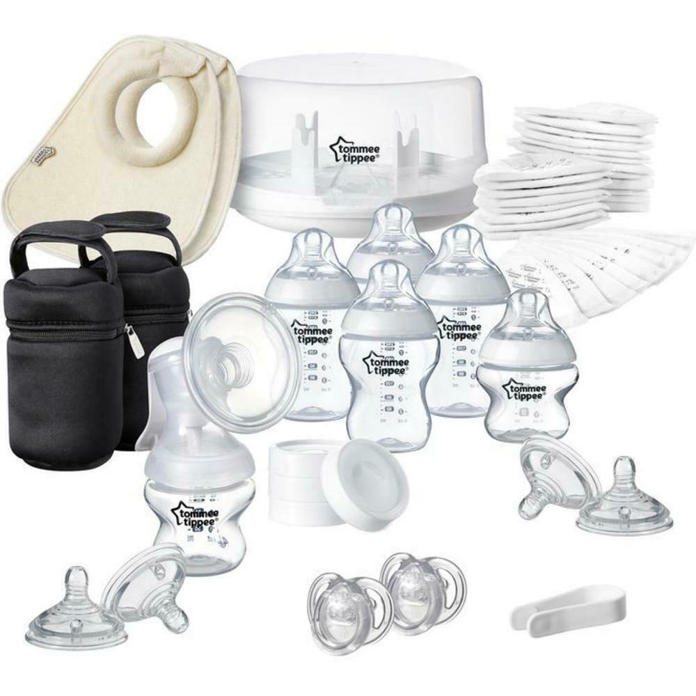 Tommee Tippee large breastfeeding set with hand pump + microwave sterilizer - $523.34