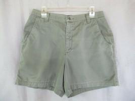 Lee shorts Sz 16P olive green flat front - $9.75