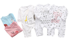 StylesILove Unisex Infant Baby Fall Long Sleeve Character Print Cotton R... - $13.99