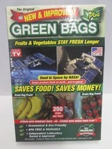 The Original new and improved Green Bags Plus storage bags AS SEEN ON TV... - $8.86