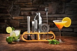 12-pc Bar Tool Set with Bamboo Stand Cocktail Bartender Accessory Kit Mi... - €56,20 EUR