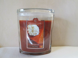 Colonial Candle 22 oz Jar PUMPKIN PIE Scented  Oval w/ lid 2 wick - £30.14 GBP