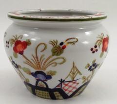 Andrea by Sadek Handpainted Porcelain Asian Japanese Jardiniere Vase Pla... - $17.77