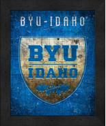 """BYU Idaho """"Retro College Logo Map"""" 13 x 16 Framed Print  - $39.95"""