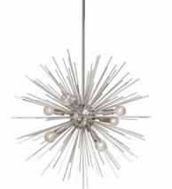 """XL Starburst Chandelier Arteriors Style Sputnik Silver Mid Century Modern 24"""" - $488.07"""