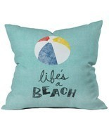 Deny Designs Nick Nelson Lifes A Beach Throw Pillow, 18 x 18 - £32.42 GBP