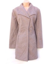 Women's Vintage MERONA Fitted Knee Length Mocha Taupe Tweed Wool Mix Coa... - $90.00
