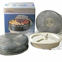 Salton 5 Tier Stackable Automatic Food Dehydrator Model DH1000A New open... - $32.66