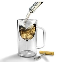 Budweiser Stein, Winestein Double Walled Strong Borosilicate Mug Glass B... - $27.49