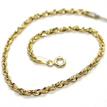 18K YELLOW GOLD ROPE MINI BRACELET, 7.1 INCHES, BRAIDED INFINITE FACETED LINK image 1