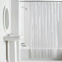 "L@@K New Mainstay Solid Color CLEAR Shower Curtain & HooksMeasures: 70"" ... - $23.75"