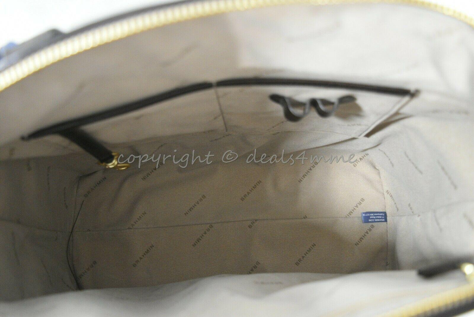 NWT Brahmin Large Duxbury Smooth Leather Satchel/Shoulder Bag in Sand Westport image 8