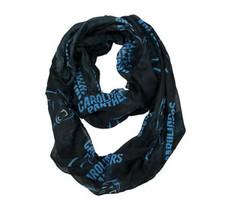 "NFL Carolina Panthers Sheer Infinity Scarf Black Blue NEW Fashion Women 70""x 25"" - $15.21"
