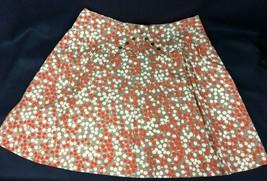 Anthropologie Girls from Savoy Apple Grey Orange A Line Skirt Size 12 Pl... - $19.80