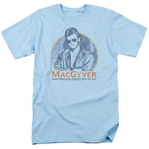 MacGyver Retro 80s adventure action TV series blue graphic t-shirt CBS1640 image 1