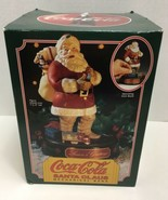 Vintage Collectible Christmas Coca-Cola Santa Claus Mechanical Piggy Bank 1993 - £60.49 GBP