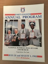 National Baseball Hall Of Fame And Museum July 31 1983 Annual Program FN... - $9.09