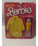 NRFB BARBIE DOLL 1985 VINTAGE FASHION MY FIRST EASY ON 2118 Yellow Coat - $20.00