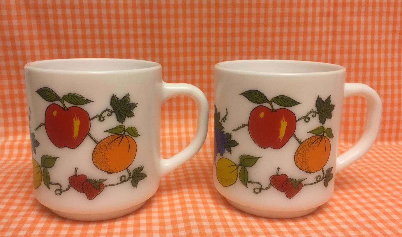 Vintage Similar Mugs Fruit Items 50 Arcopal France And Coffee QBerCxWdo