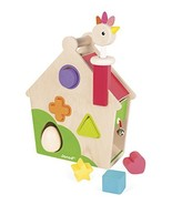 Janod Zigolos Hen Activities House Baby Toy - $45.22