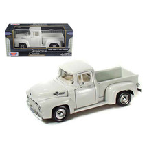 1956 Ford F-100 Pickup Truck White 1/24 Diecast Model Car by Motormax 73235w - $24.99