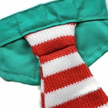 NEW Christmas Cat Collar with Tie Green Red Striped Holiday Pet Costume new image 2