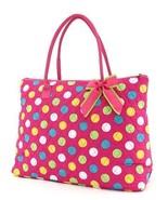 Belvah large monogram-able polka dot print large tote bag LPDQ1105(FSMT) handbag - $33.00