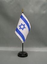 "Israel 4X6"" Table Top Flag W/ Base New Desk Top Handheld Stick Flag - $4.95"