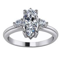 1.26 Ct Marquise Cut Diamond Three Stone Engagement Ring 14K White Gold ... - $75.99
