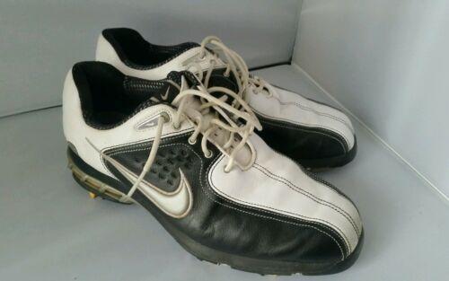 Damen Nike Air Weiß Schwarz Golf Stollen Schuhe Größe 7,5
