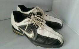 Damen Nike Air Weiß Schwarz Golf Stollen Schuhe Größe 7,5 - $40.48