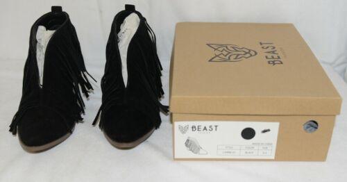 Beast Fashion Carrie 01 Black Fringe Slip On Shoes Size 6 And Half