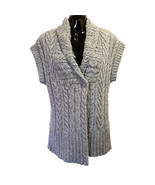 Gray Sweater If It Were Me Size L Wool Alpaca Short Sleeve Anthropologie... - $19.08