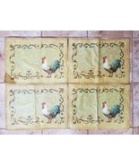 4 Placemats Place Mats Roosters Country Farmhouse Farm Primitive Free Sh... - $19.79