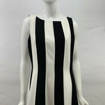 Anne Klein Dress Size 14 Black and White Contrast A-line Sleeveless Belo... - $55.00
