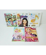 Lot of 5 Nintendo Wii Games - Two Barbie Games, Wii Music, iCarly, Mini ... - $16.82