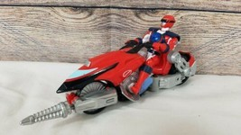 2006 Bandai Power Rangers Red Helio Cycle Red Operation Overdrive Ranger Figure - $14.54