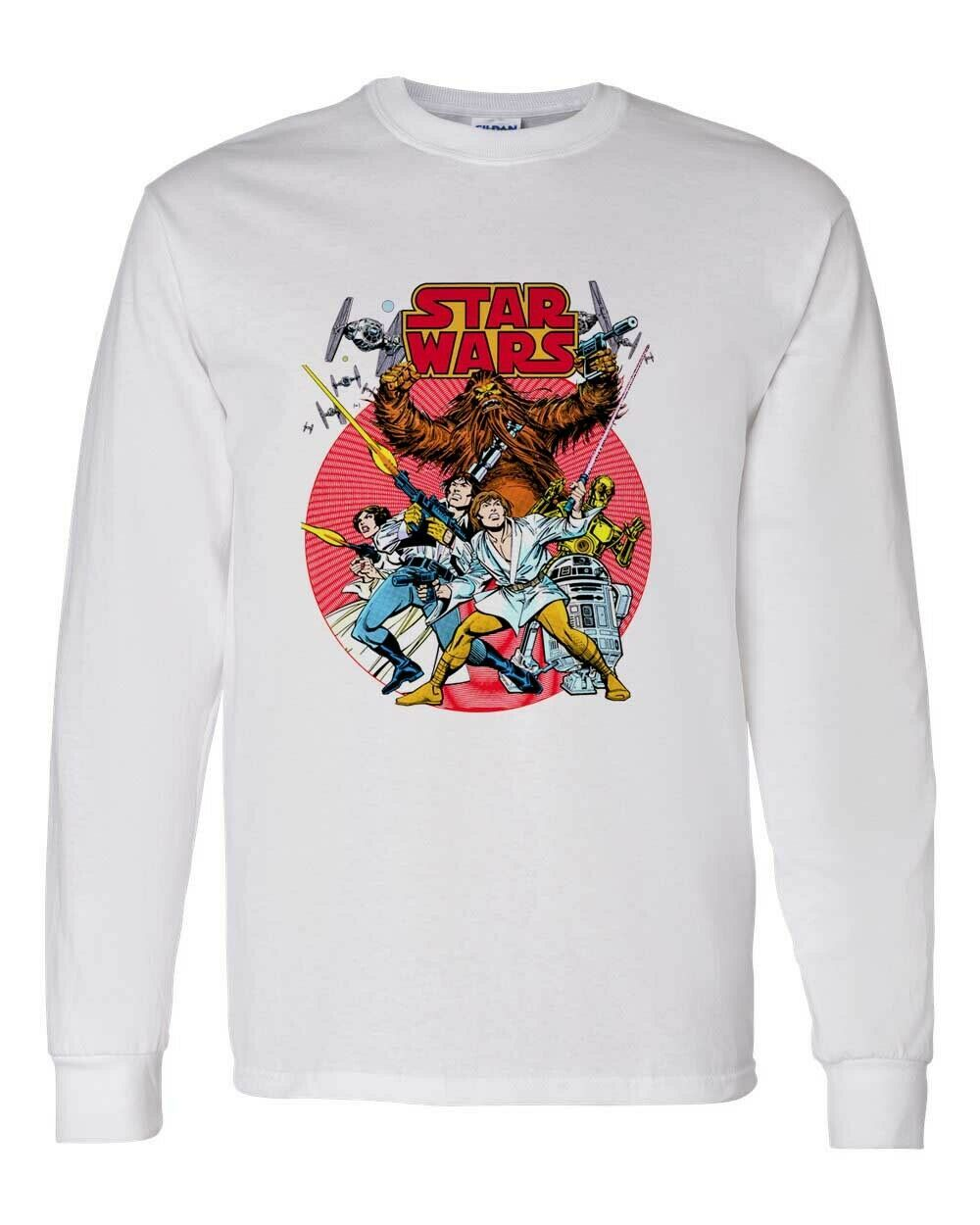 Star Wars Comics Long Sleeve T-shirt retro 1970's Marvel Comics cotton tee