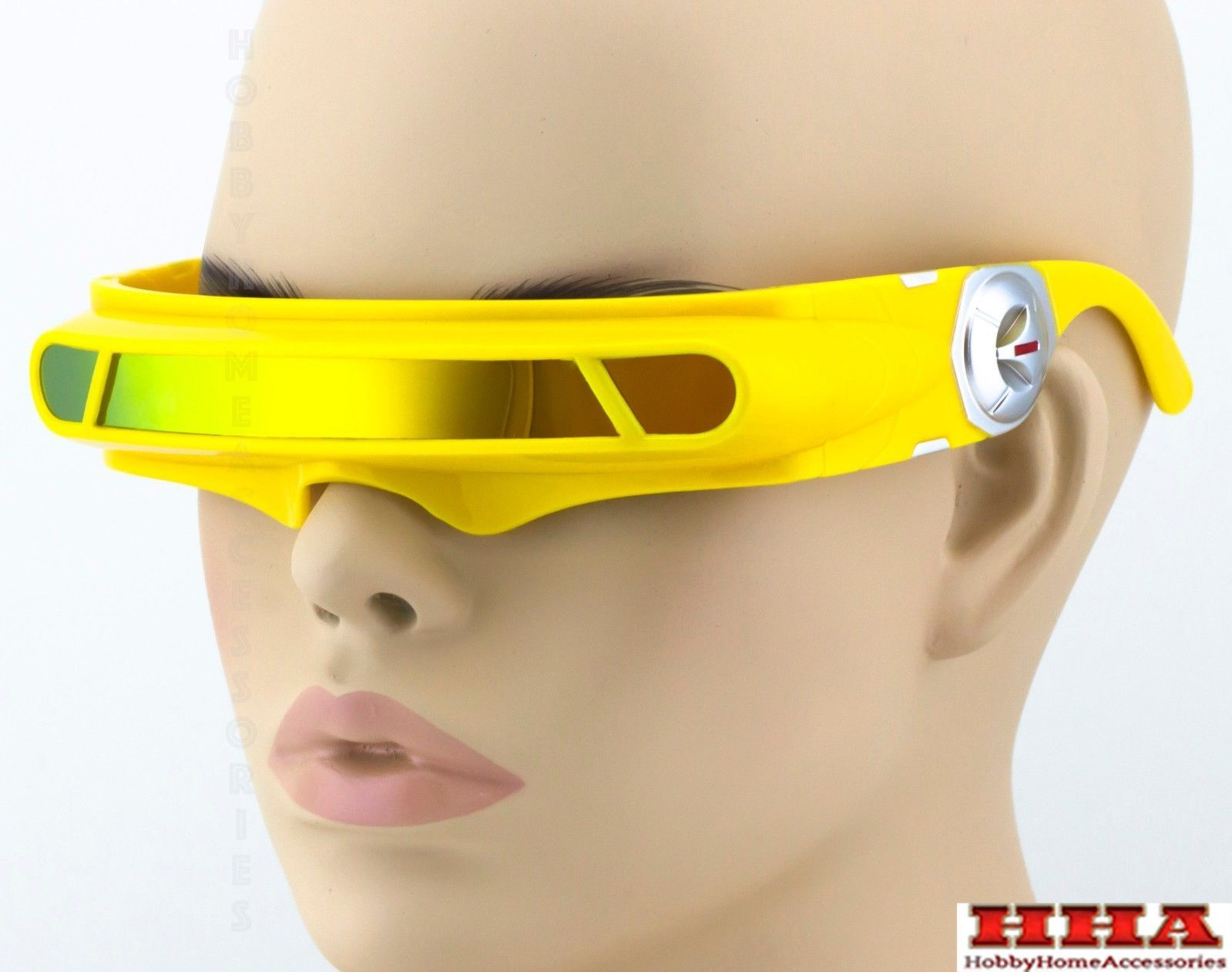 Used, SPACE ALIEN COSTUME Party CYCLOPS Futuristic Robot WRAP SHIELD SUN GLASSES Visor for sale  USA